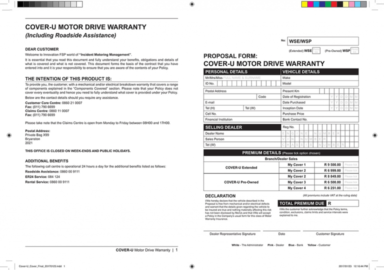 Cover U Insides Warranty