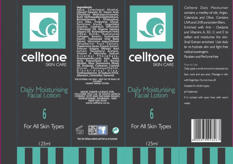 Daily moisturising facial lotion box4 OPTION 3B