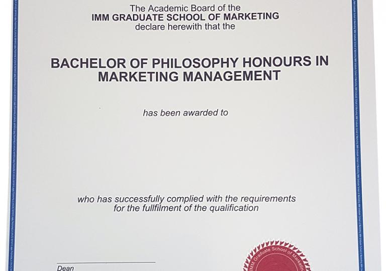 Imm Certificate
