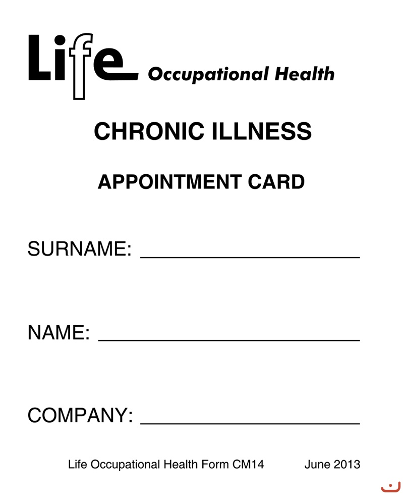 Life Appointment Card Cover